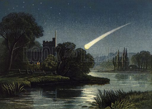 Meteor in 1868, picture, image, illustration