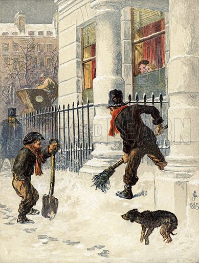 The Snow Sweepers. Dated 1865.