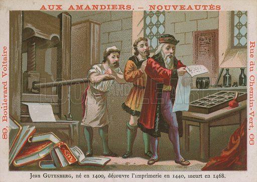 Johannes Gutenberg, 15th Century German inventorand printer.