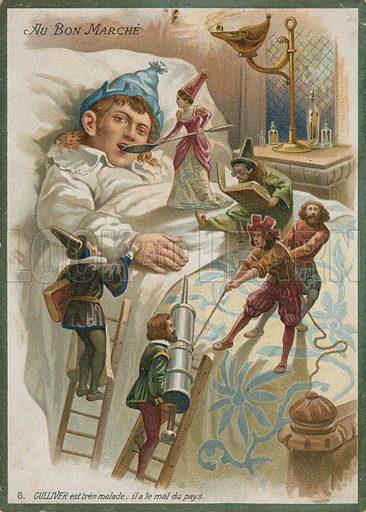 Gulliver ill in Lilliput