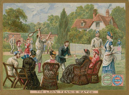 The lawn tennis match.