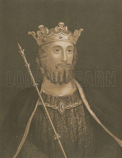 Edward II. Illustration for The History of England by David Hume et al (John Scott, c 1880).