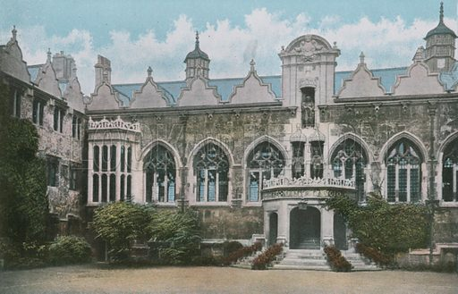 Oriel College. Photograph from Pictures in Colour of Oxford (Jarrold, 1900).