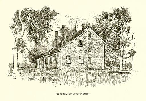 Rebecca Nourse House. Illustration for American Landmarks (Balch, 1893).