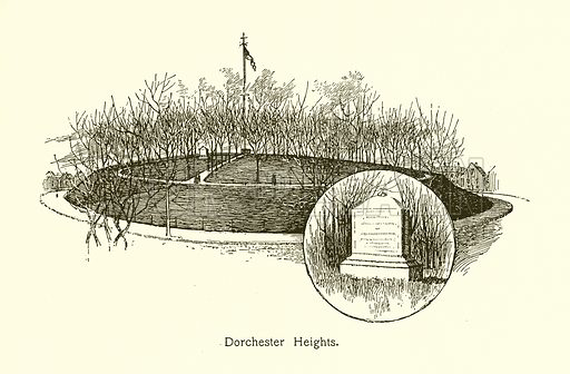 Dorchester Heights. Illustration for American Landmarks (Balch, 1893).
