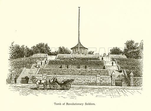 Tomb of Revolutionary Soldiers. Illustration for American Landmarks (Balch, 1893).