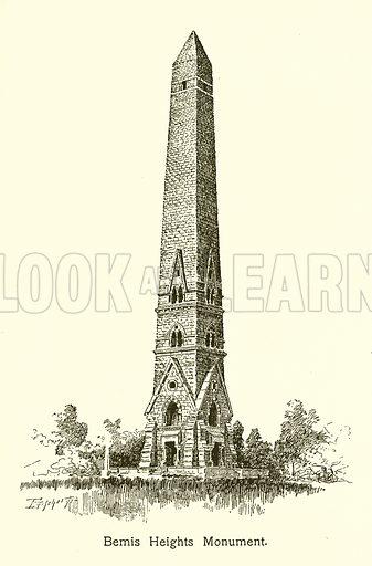 Bemis Heights Monument. Illustration for American Landmarks (Balch, 1893).