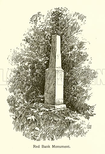 Red Bank Monument, Valley Forge. Illustration for American Landmarks (Balch, 1893).