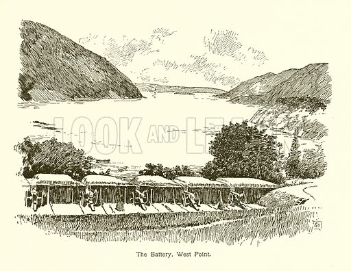 The Battery, West Point. Illustration for American Landmarks (Balch, 1893).