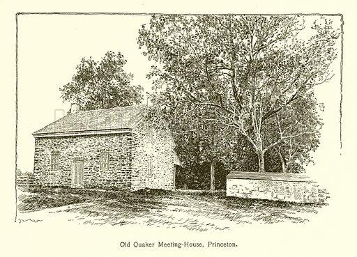 Old Quaker Meeting-House, Princeton. Illustration for American Landmarks (Balch, 1893).
