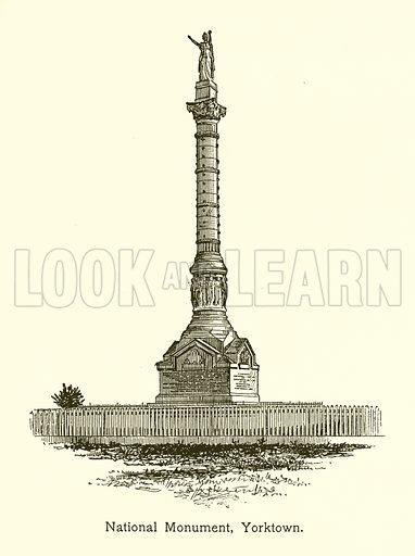 National Monument, Yorktown. Illustration for American Landmarks (Balch, 1893).