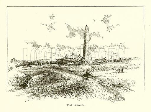 Fort Griswold. Illustration for American Landmarks (Balch, 1893).