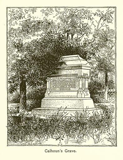Calhoun's Grave. Illustration for American Landmarks (Balch, 1893).