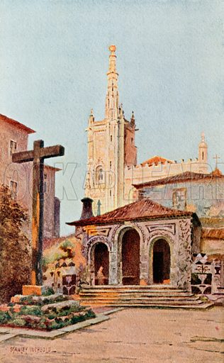The Monastery of Bussaco. Illustration for Lisbon & Cintra (Chatto & Windus, 1907).