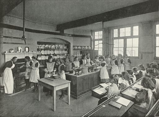 A Board School Cookery Class