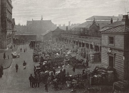 Covent Garden Market. Illustration for The Queen's London (Cassell, 1896).