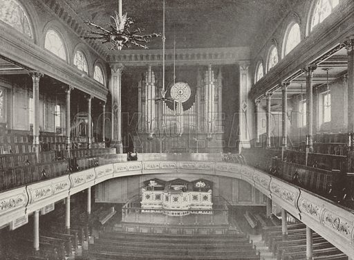 The City Temple. Illustration for The Queen's London (Cassell, 1896).