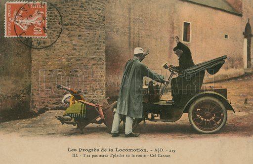 Motor accident. Postcard sent in 1913.