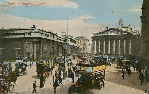 Bank of England, London. Postcard sent in 1913.
