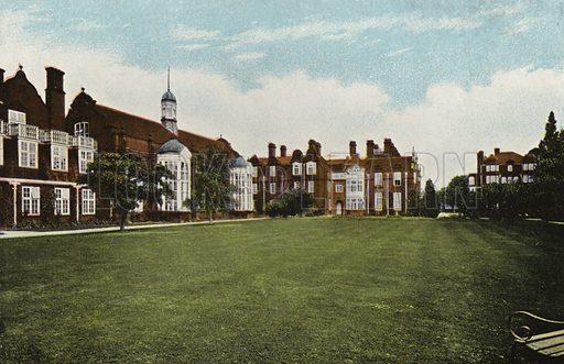 "Newnham College, the Three ""Halls."" Illustration for Pictures in Colour of Cambridge (Jarrold, c 1905)."
