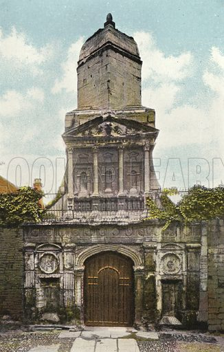 Gonville and Caius College, the Gate of Honour. Illustration for Pictures in Colour of Cambridge (Jarrold, c 1905).
