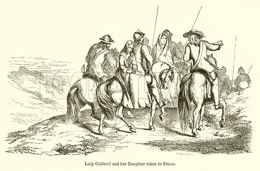 Lady Caldwell and her Daughter taken to Prison. Illustration for The Scots Worthies (Blackie, 1879).