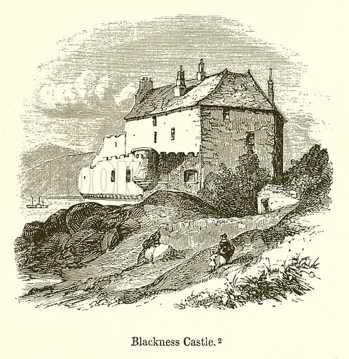 Blackness Castle. Illustration for The Scots Worthies (Blackie, 1879).