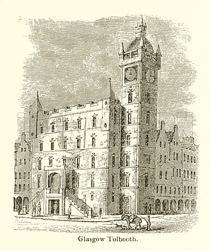 Glasgow Tolbooth. Illustration for The Scots Worthies (Blackie, 1879).