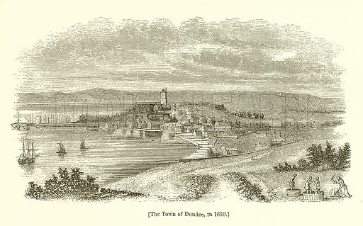 The Town of Dundee, in 1650. Illustration for The Scots Worthies (Blackie, 1879).