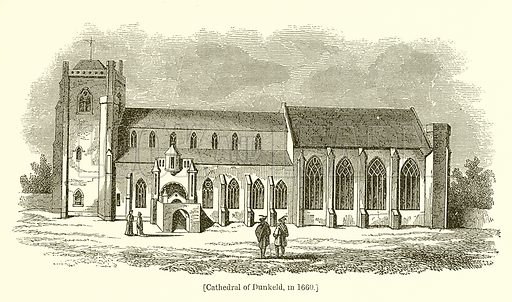 Cathedral of Dunkeld, in 1660. Illustration for The Scots Worthies (Blackie, 1879).