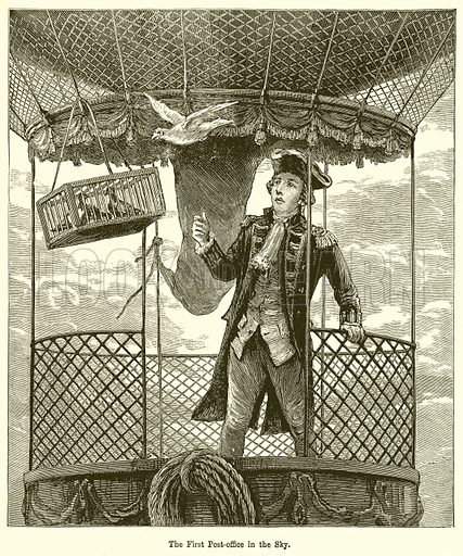 The First Post-Office in the Sky. Illustration for Chatterbox, c 1905.