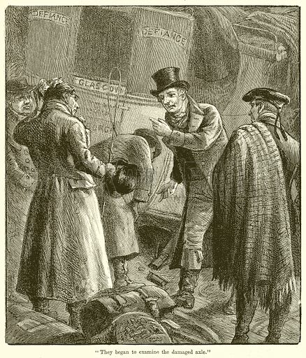 """They began to Examine the Damaged Axle."" Illustration for Chatterbox, c 1905."