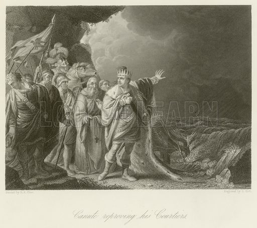 Canute reproving his courtiers
