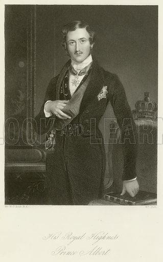 His Royal Highness Prince Albert. Illustration for The Gallery of Engravings (circa 1880). Painted by Sir William Charles Ross, engraved by William Holl.