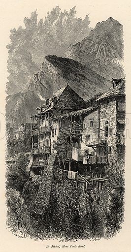 St Michel, Mont Cenis Road. Illustration for Picturesque Europe (Cassell, c 1880).
