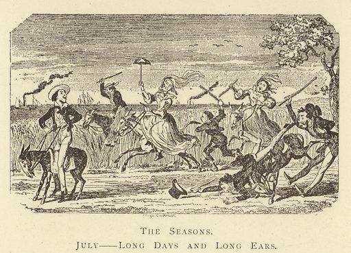 The Seasons, July, Long Days and Long Ears. Illustration for Four Hundred Humorous Illustrations (Simpkin et al, c 1880).