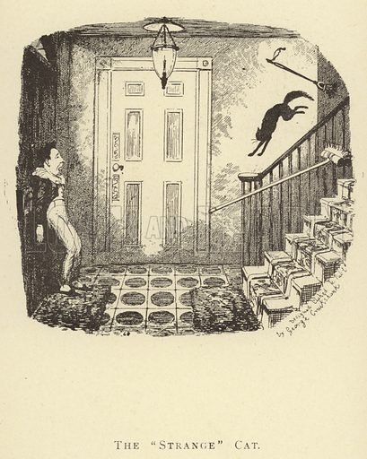"The ""Strange"" Cat. Illustration for Four Hundred Humorous Illustrations (Simpkin et al, c 1880)."