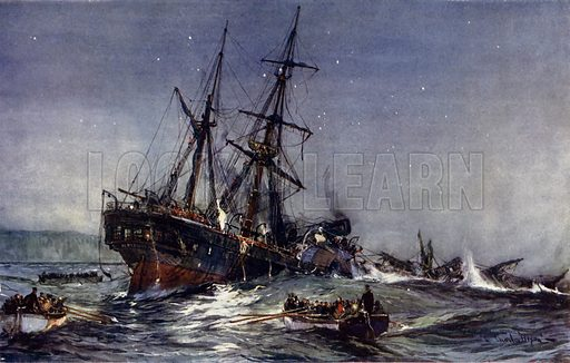 HMS Birkenhead, picture, image, illustration