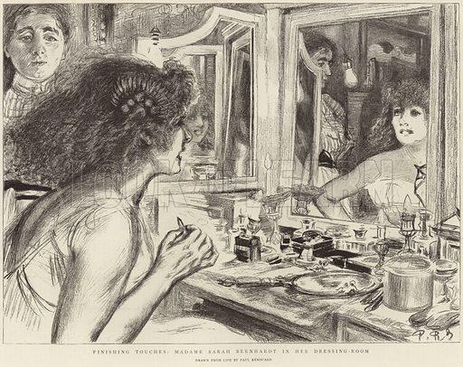 Madame Sarah Bernhardt in her dressing room