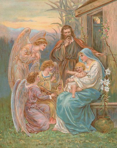 The Christ Child. Published in The Sunday Picture Book for the Little Ones, stories by L L Weedon; published by Ernest Nister, London, and E P Dutton & Co, New York, circa 1890.