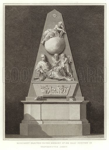 Monument Erected to the Memory of Sir Isaac Newton in Westminster Abbey