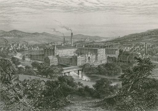 Saltaire, picture, image, illustration