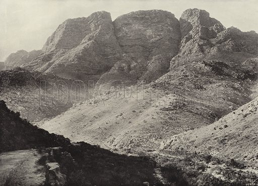 Mitchell's Pass, Ceres. Illustration for Picturesque South Africa (Dennis Edwards, c 1895).