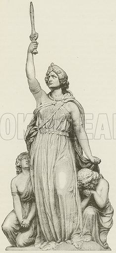 Boadicea. Illustration for The Pathway of Life by T Dewitt Talmage (Johnson, 1890).
