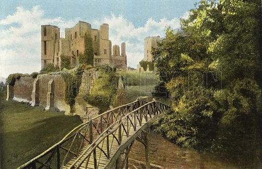 The Rustic Bridge, Kenilworth. Illustration for Pictures in Colour of Warwickshire (Jarrold, c 1905).