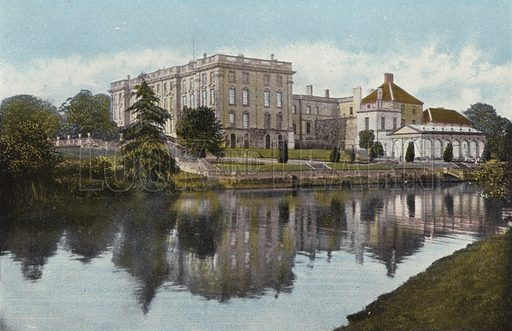 Stoneleigh Abbey. Illustration for Pictures in Colour of Warwickshire (Jarrold, c 1905).