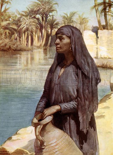 Egyptian Woman. Illustration for Women of All Nations (Cassell, c 1910).
