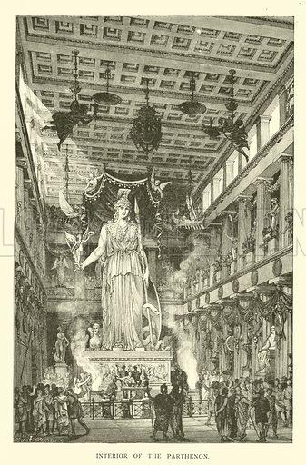Interior of the Parthenon