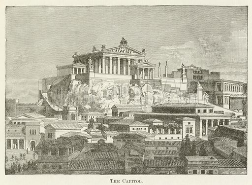 The Capitol. Illustration for A Pictorial History of the World's Great Nations by Charlotte M Yonge (Selmar Hess, c 1880).