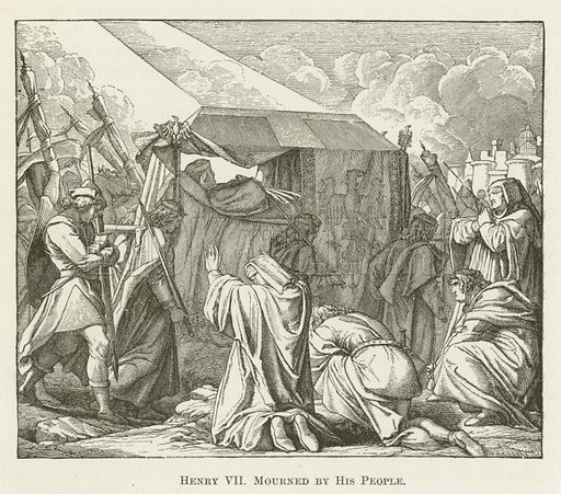 Henry VII Mourned by His People. Illustration for A Pictorial History of the World's Great Nations by Charlotte M Yonge (Selmar Hess, c 1880).